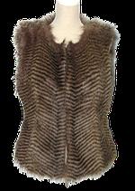 IBANA feather gilet, bohemian vestje, top, Mt. L