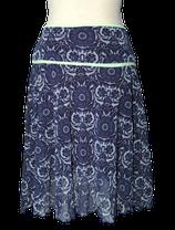 KOOKAI rokje, blauw-lila gebloemd, Mt. S (1)