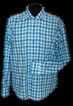 GENTILUOMO overhemd,  slimfit, blauw/wit, Mt. 43