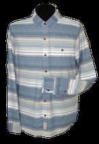 HOLLISTER gestreept overhemd,  blauw-wit, Mt. L