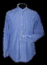 ELLIOT gestreept overhemd, shirt, blauw/wit, Mt. 40