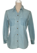 CURRENT ELLIOTT blouse, spijkerblouse, blauw, Mt. S