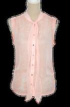 ROYAL CHICKS mouwloze blouse, chiffon roze, Mt. M