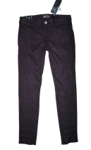 GUESS jeans, suedine broek, SKINNY, zwart, Mt. W27