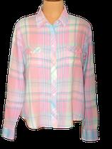 GANT blouse, geruit, pastel roze, Mt. M