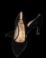 SAM EDELMAN suede pumps, high heels, zwart, Mt. 38