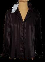 SUNCOO PARIS satijnen blouse, LILOU, zwart, Mt. S