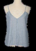 COSTES BLUE topje, hemdje, vestje, blauw - wit, Mt. M