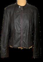 LA LIGNA lederlook jasje, biker jack, donker bruin, Mt. 42