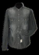 FRED MELLO jeanslook overhemd, shirt, grijs/zwart, Mt. L