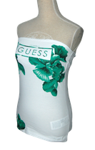 GUESS strapless topje, wit/groen, Mt. XS