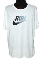 NIKE DRI-FIT heren RUN shirt wit, Mt. XXL