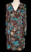 ZIDANE , jurk flower dress, grijs/blauw, Mt. XL
