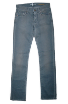 7 SEVEN FOR ALL MANKIND jeans, straight leg, grijs, Mt. S