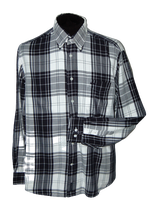 Mc.GREGOR geruit overhemd,  zwart - grijs - wit, Mt. L