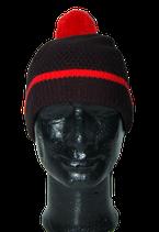 WON HUNDRED muts, beanie, zwart/rood, One size