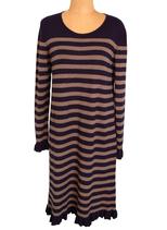 RIANI jurkje, gestreepte jurk, blauw/camel, Mt. 38