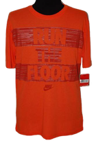 NIKE heren RUN THE FLOOR shirt, Mt. L