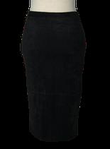 NIKKIE suedine  koker rok, zwart, Mt. 34