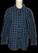 BLUE WILLI'S geruite blouse, d. blauw, Mt. XXL