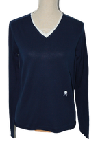 HYDROGEN v-neck trui, truitje, blauw, Mt. M