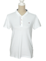 TOMMY HILFIGER DENIM polo, wit, Mt. M