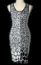 AIRFIELD stretch jurkje, zwart/wit, Mt. 36