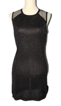 SUPERTRASH lurex DAKOTA jurkje, zwart, Mt. L