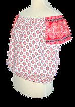 BRIGITTE BARDOT topje, top, roze wit. Mt. S (1)