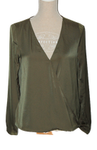 SUPERTRASH satijnen top, BORK, groen, Mt. 36