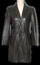 ZIJ leren mantel, vintage jas. Mt. 36
