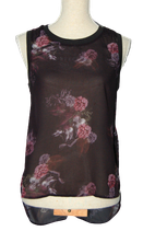 SUPERTRASH semi-transparant topje, top, flower, Mt. 34