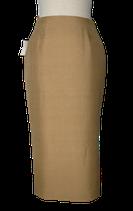 GIANFRANCO FERRE 100% zijde rok, camel/kaki, Mt. 34