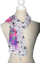 GUESS sjaal, shawl, paars/roze/wit