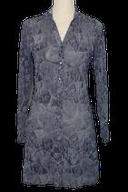 QUESTION? kanten jurkje,  blauw - grijs, Mt. S