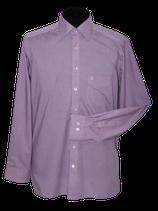 OLYMP geruit overhemd, LUXOR, lila, Mt. 41