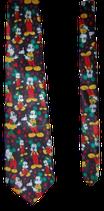 Mickey Mouse zijden stropdas Gold Top, Zwart