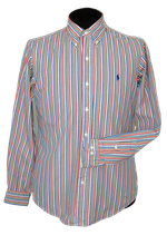 POLO RALPH LAUREN striped overhemd, Mt. 38 / S