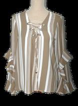 SUPERTRASH blouse, top, BAMBI RUFFLE, zand, Mt. 38