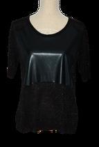 SUPERTRASH lurex  top, KYLIE, zwart, Mt. XL