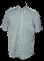 VAN LAACK overhemd, korte mouwen, blauw-grijs, Mt. 41