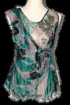 STILLS 100% zijde topje, top, groen/grijs, Mt. 36 (34)