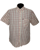 PAUL STUART geruit overhemd, korte mouw, Mt. M