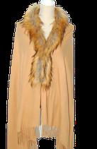 RINO & PELLE cape, vest, beige - bruin, One size