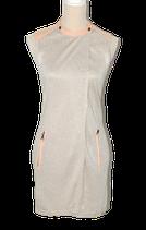 NOBLESSE vest, jurk, jurkje met leer, beige - roze, Mt. XS