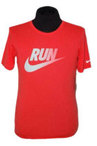 NIKE DRI FIT  RUN shirt rood, Mt S