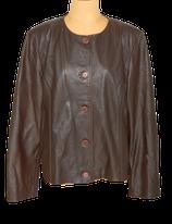 DIJA vintage lederen jasje,  bruin, Mt. 48