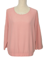 NOMANSLAND topje, blouse-top, top, blouse, roze zalm, Mt. S