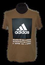 ADIDAS, drei streifen shirt, groen - taupe, Mt. M