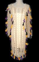 SUPERTRASH bohemian jurk, gehaakt jurkje, crème, Mt. L